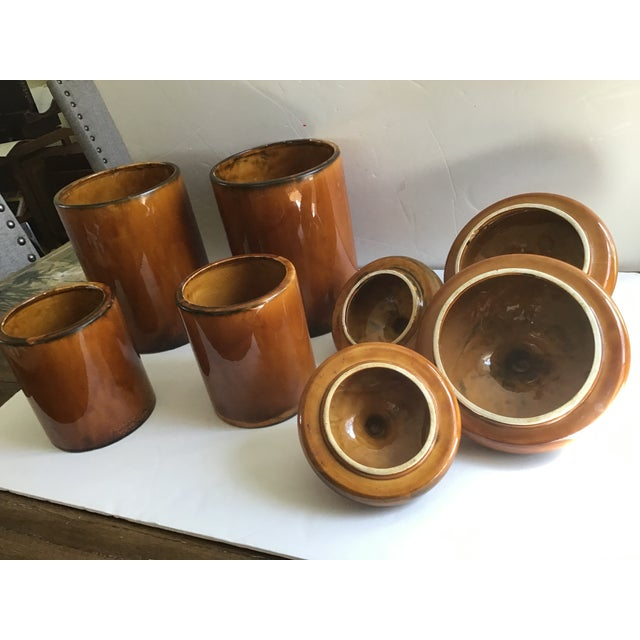 Rustic Pottery Canister McCoy Flour Coffee Set - 4 Pieces For Sale In Cleveland - Image 6 of 9