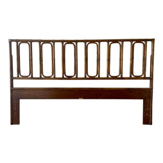 Vintage Rattan McGuire King Headboard For Sale