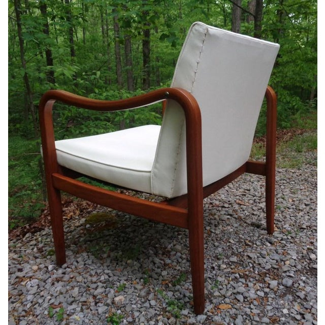 Mid 20th Century Rare 1960 Barney Flagg for Drexel Parallel Bent Wood Club Chair For Sale - Image 5 of 13