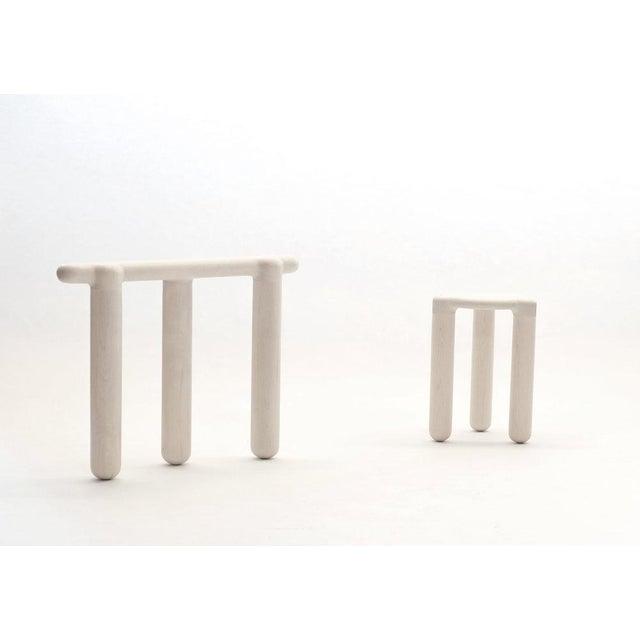 Maple Loïc Bard Stool Bone 09 For Sale - Image 7 of 8
