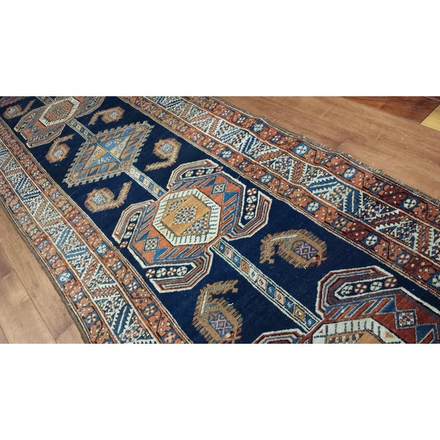 Islamic Antique Persian Heriz Hall Runner For Sale - Image 3 of 4