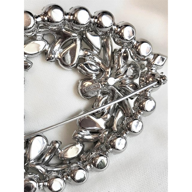 1960s Eisenberg Large Faceted Crystal Brooch For Sale In Los Angeles - Image 6 of 9