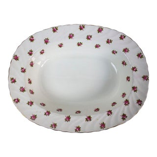1960s Aynsley China Hathaway Pattern Serving Bowl For Sale