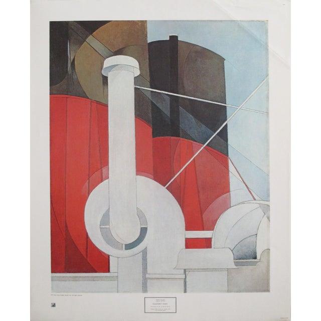 Paper 1977 Original Exhibition Poster, Charles Demuth, Paquebot Paris For Sale - Image 7 of 7