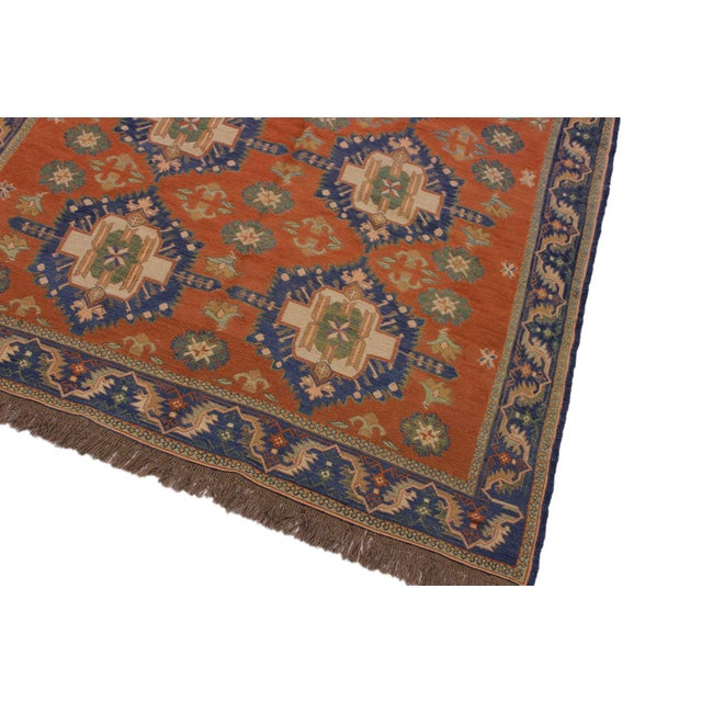 """Tribal 1950s Antique Tribal Soumakh Sally Wool Rug - 6'7"""" X 9'2"""" For Sale - Image 3 of 9"""
