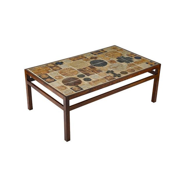 Contemporary Tue Poulsen Tile Coffee Table For Sale - Image 3 of 10