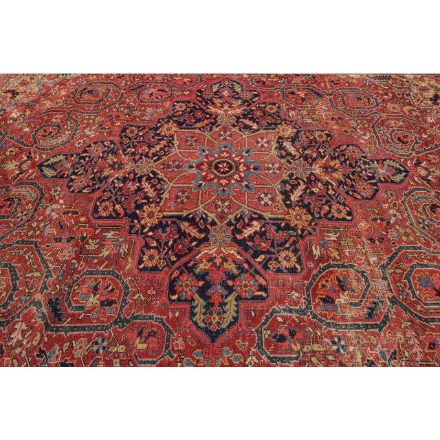 "Textile Apadana - Vintage Persian Heriz Rug, 9'9"" x 13' For Sale - Image 7 of 7"