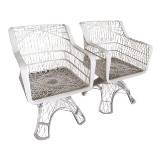 Russell Woodard Web Spun Patio Chairs - a Pair For Sale