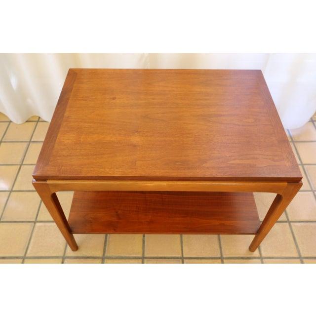 Walnut Lane Rhythm Mid-Century Walnut Side Table For Sale - Image 7 of 10