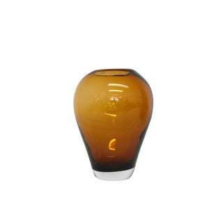 Mid Century Modern Amber Vase For Sale