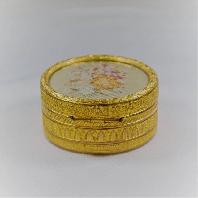 Early 20th Century Gilt Petit Point Box For Sale - Image 5 of 7