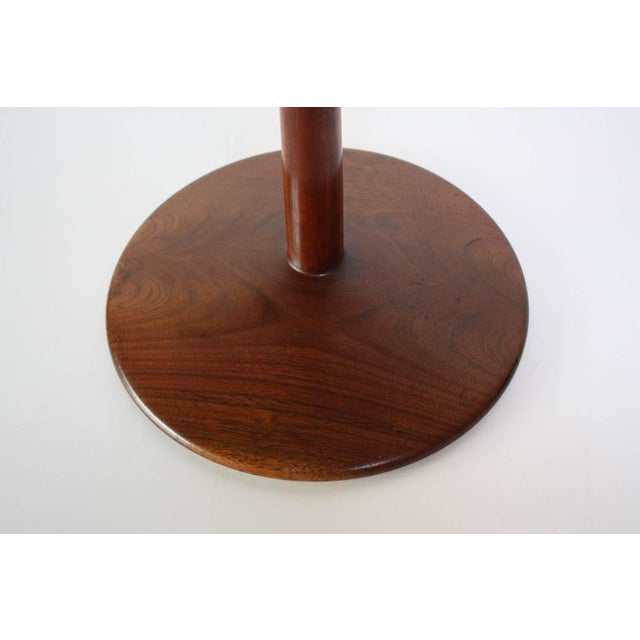1960s James Martin Carved Walnut Floor Candelabrum For Sale - Image 10 of 11
