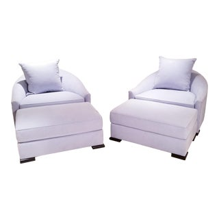Dupre Lafon Lounge Chair and Ottoman - a Pair For Sale