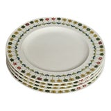 Image of Vintage Rosenthal-Continental Emilio Pucci Piemonte Pattern Salad Plates - Set of 4 For Sale