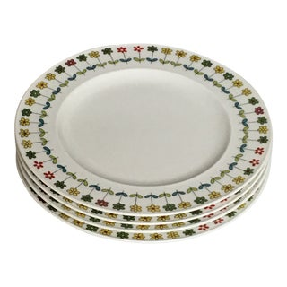 Vintage Rosenthal-Continental Emilio Pucci Piemonte Pattern Salad Plates - Set of 4 For Sale