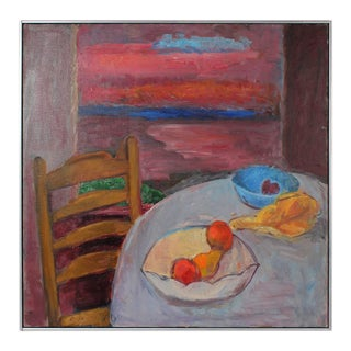 Gerald Wasserman Still Life with Sunset, Oil on Canvas, 20th Century For Sale