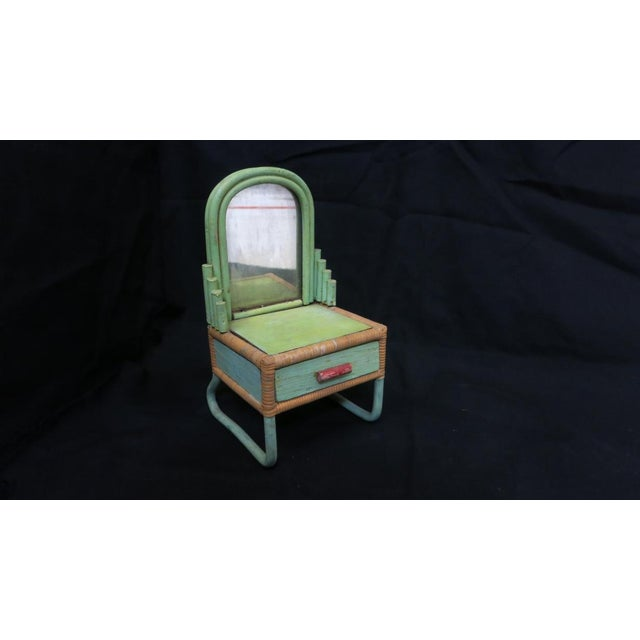 Paul Frankl Rare Sale's Man Sample Miniature Rattan Furniture For Sale - Image 4 of 8