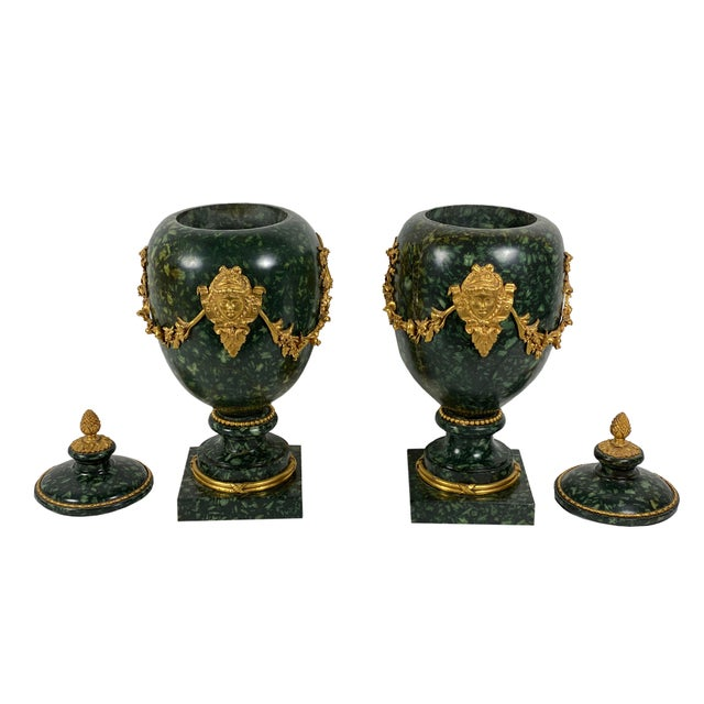 Early 18th Century Italian Porphyry Vases With Bronze Dore Mounts - a Pair For Sale - Image 4 of 13