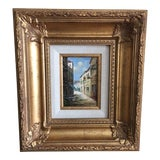 Image of 20th Century Street Scene Oil Painting For Sale