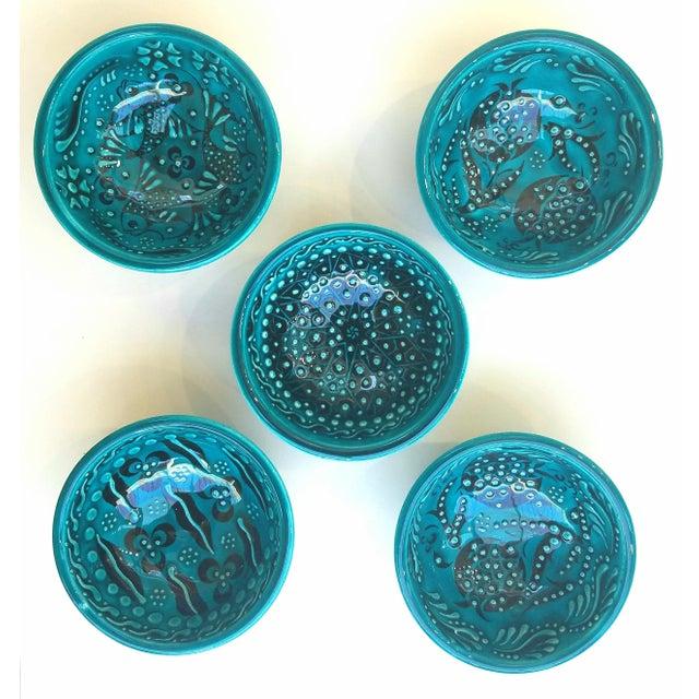 Turquoise Bowls - Set of 5 - Image 3 of 5