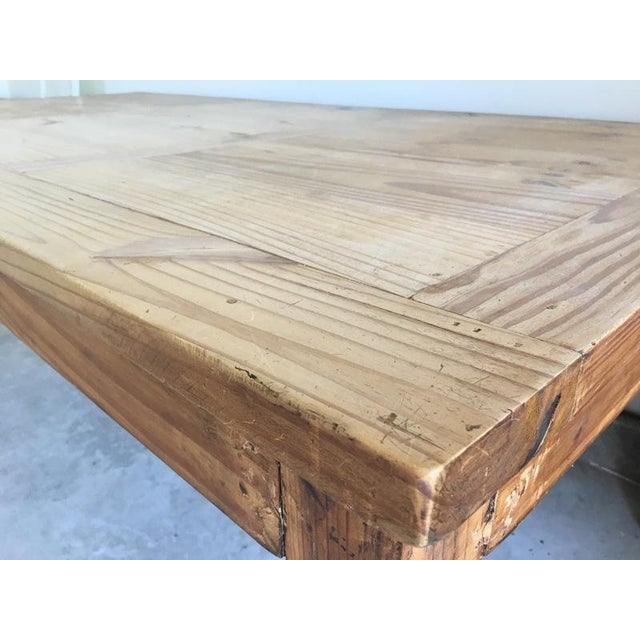 Mexican Carved Wood Single Drawer Dining Table For Sale In San Francisco - Image 6 of 6