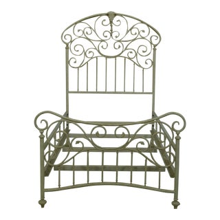 Victorian Style Twin Size Single Metal Bed For Sale