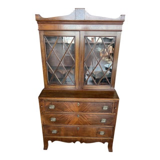 Sheraton Secretary Desk 19th Century For Sale