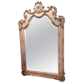 Extra Tall Hollywood Regency Style Leaning or Wall Mount Mirror For Sale