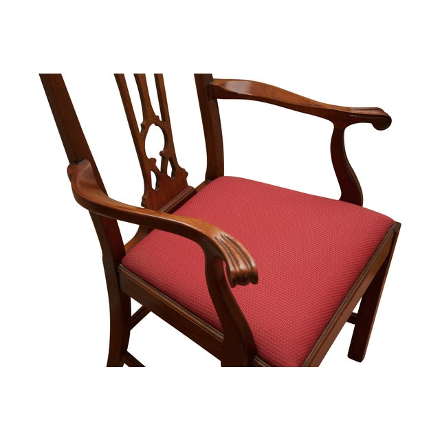 Chippendale Style Mahogany Dining Chairs - S/8 - Image 6 of 10