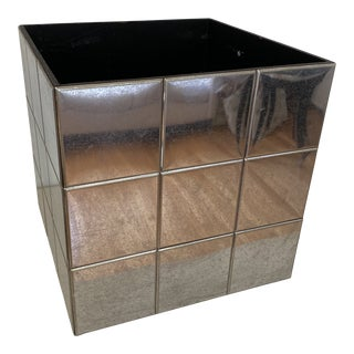 1960s Mid-Century Silver Tiled Planter For Sale