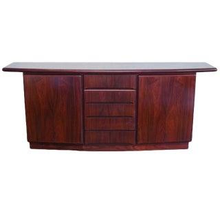 Designer Danish Deco Solid Rosewood Sideboard For Sale