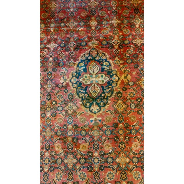 Vintage Persian Sarouk Rug- size 9x10 ft For Sale In Los Angeles - Image 6 of 11