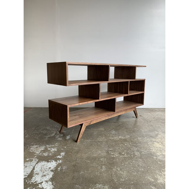Walnut Modern Book Case For Sale - Image 12 of 13