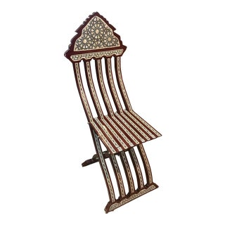 Inlaid Mother-Of-Pearl Chair For Sale