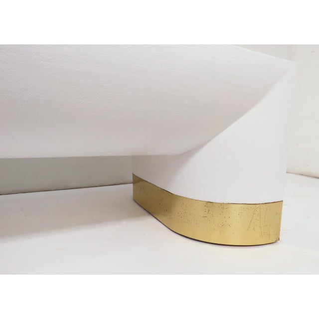 Lacquered Linen Jay Spectre for Century Furniture Coffee Table, Circa 1970s For Sale - Image 9 of 11