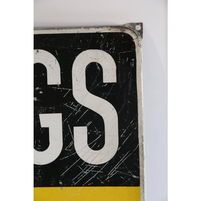 Mid-Century Modern Dutch Konings Gist Advertising Sign, circa 1950 For Sale - Image 3 of 6