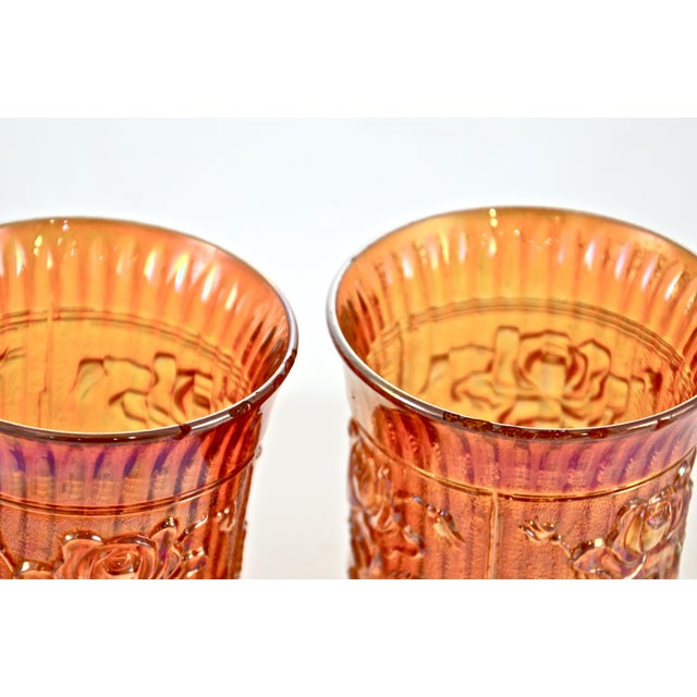 Cottage Antique Iridescent Gold Vessels - a Pair For Sale - Image 3 of 4