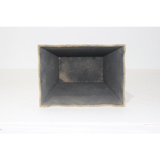 Mid-Century Florentine Giltwood Wastebasket Gilt Wood For Sale - Image 10 of 11