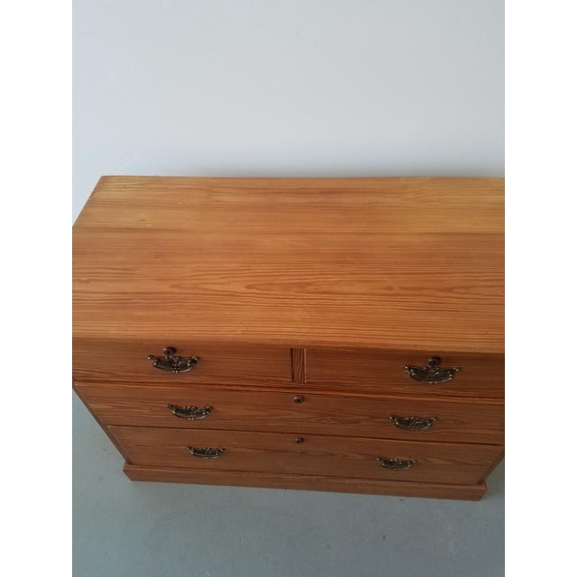 Traditional United Kingdom Pitch Pine Chest of Drawers For Sale - Image 3 of 13