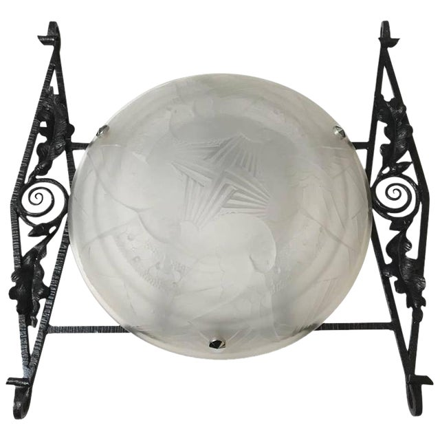 French Art Deco Sconce For Sale