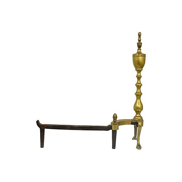Brass Andirons - A Pair - Image 4 of 6