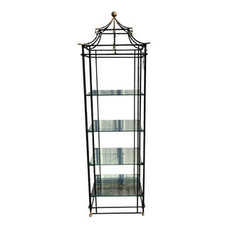 Vintage Chinoiserie Pagoda Shaped Etagere Shelf For Sale