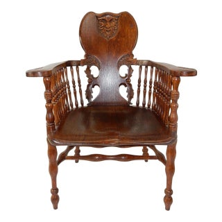Gorgeous Intricately Carved Antique Oak Side Chair