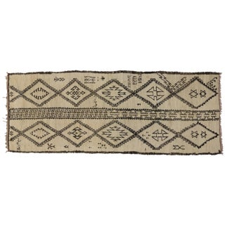 Vintage Judaica Moroccan Gallery Rug, 5'7 x 14'5 For Sale