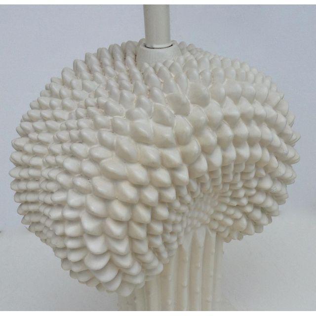 Metal John Dickinson Plaster Palm Cactus Lamp For Sale - Image 7 of 11