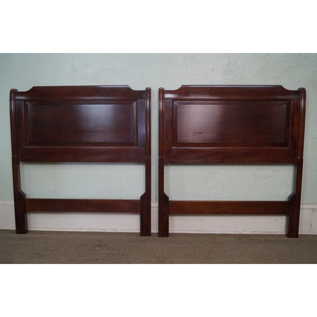 Stickley Solid Mahogany Twin Size Headboards - A Pair - Image 4 of 9