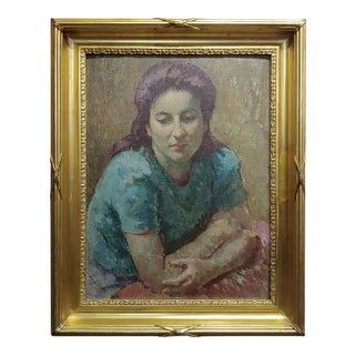 Mischa Ashkenazy -Portrait of a Woman - Oil Painting For Sale