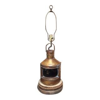 Vintage Nautical Lantern Lamp For Sale