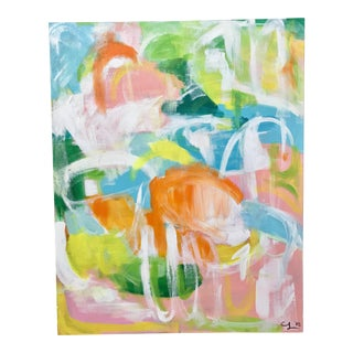 "Christina Longoria ""Punta Cana"" Abstract Painting For Sale"