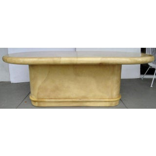 Karl Springer Attributed 1970's Lacquered Goatskin Extension Table Preview